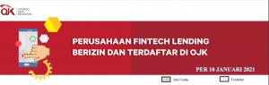 Daftar perusahaan fintech terdaftar OJK